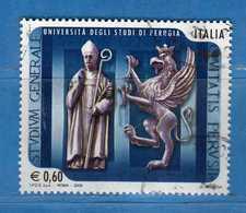 Italia- °-2008 -  UNIVERSITA^ Di PERUGIA - Unif. 3104.  Usato.   Vedi Descrizione - 6. 1946-.. Repubblica