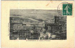 Carte Postale Ancienne De L'ARBRESLE Et Coteau D'Eveux - Francia
