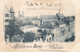 BASEL - BS - SUISSE - CPA PRÉCURSEUR DE 1901 - BEL AFFRANCHISSEMENT POSTAL. - BS Basel-Stadt