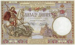 JUGOSLAVIA-YUGOSLAVIA-1000 DINARA 1920 P-23a UNC-COPY-SERIE 0000000 - Jugoslavia