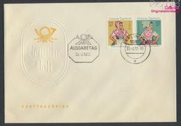 DDR W8 (1723-1724 Als Paar) FDC 1971 Sorb. Trachten (9213348 - [6] République Démocratique