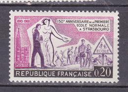 N 1254 Sesquicentenaire De L'Ecole Normale De Strasbourg: Un Timbre Neuf Gomme  D'origine Sans Charnière. - France