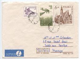 Poland 1985 Uprated Postal Envelope Warsaw To Sablé-sur-Sarthe, France - Postwaardestukken