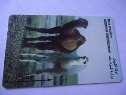 KUWAIT USED CARDS ANIMALS CAMEL - Kuwait