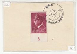 10 Jahre Machtübernahme 1943 Wien Special Pmk B180710 - Cartas