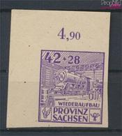 Sowjetische Zone (All.Bes.) 89B II, Fleck In Lichtleiste Postfrisch 1946 Wiederaufbau (9213308 - Sowjetische Zone (SBZ)