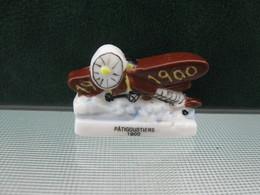 Fève Avion 1900 Série Personnalisée Pâtigoustiers   Année 2000 - Fèves - Rare T Perso - History