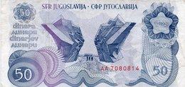"JUGOSLAVIA-YUGOSLAVIA-50 DINARA 1990 P-101(""Spomenik Issue"" ) SERIE AA - Jugoslavia"