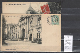 Lettre Avec Cachet Convoyeur Clermont En Argonne à Beauzée - Meuse - 2 Piéces - Postmark Collection (Covers)