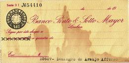 Portugal , Banco Pinto & Sotto Mayor , Cheque , Check , 1949 , Some Age Spots - Assegni & Assegni Di Viaggio