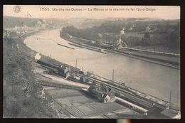 MARCHE LES DAMES = LA MEUSE ET LE CHEMIN DE FER NORD BELGE - Namur