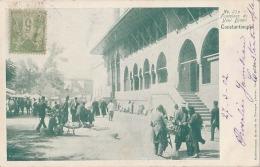 R3- CONSTANTINOPLE (TURQUIE) FONTAINES  DE YENI DJAMI - (TRES ANIMÉE - OBLITERATION DE 1902) - Turkey
