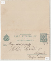 Hungary - Croatia, Postal Stationery Zárt-levelező-lap Zatvorena Dopisnica Travelled 1913 Zagreb Pmk B180710 - Croazia