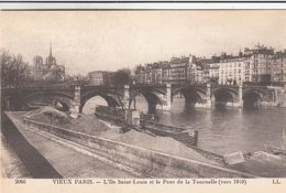 Cp , 75 , VIEUX PARIS , L'Île Saint-Louis Et Le Pont De La Tournelle (vers 1910) - The River Seine And Its Banks