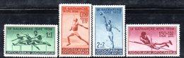YUG50C - YUGOSLAVIA 1938 , GIOCHI BELGRADO Serie Unificato N. 326/329  ***  MNH - Nuovi