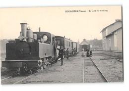 CPA 86 Lencloitre La Gare Et Le Train Tramway - Lencloitre