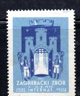 YUG50E - YUGOSLAVIA 1936 , Fiera Di Zagabria  Etichetta Erinnofila  Nuova - Nuovi