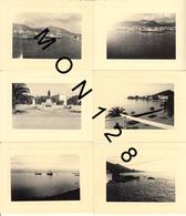 CORSE - AJACCIO 1954 - LE PORT LA PLACE NAPOLEON LA PROMENADE- 6 PHOTOS 11x8 Cms - Lieux