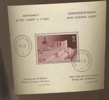 1938. Bloc 8. Roi Albert Ø  Cote 20,-€. - Blocs 1924-1960