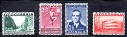327 490 - YUGOSLAVIA 1938 , PRO SANATORIO Serie Unificato N. 322/325  * - Nuovi