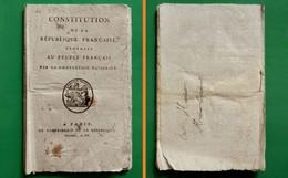 D-FR Révolution 1795 Constitution De La République Française Proposée Au Peuple Français Par La Convention Nationale - Documents Historiques