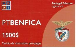 BENFICA PT 1500 Prepaid Phonecard - Portugal - Portugal