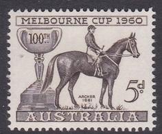 Australia ASC 364  1960 Melbourne Cup 100 Races Commemoration, Mint Never Hinged - 1952-65 Elizabeth II : Ed. Pré-décimales
