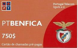 BENFICA PT 750 Prepaid Phonecard - Portugal - Portugal