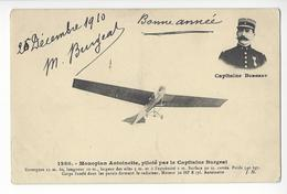 CAPITAINE BURGEAT AUTOGRAPHE ORIGINAL AUTOGRAPH AVIATION AVIATEUR /FREE SHIPPING REGISTERED - Aviateurs