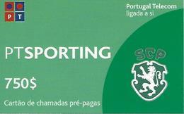 SPORTING PT 750 Prepaid Phonecard - Portugal - Portugal