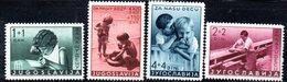 YUG51B - YUGOSLAVIA 1939 , INFANZIA Serie Unificato N. 339/342  * - Nuovi