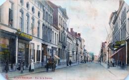 Saint-Nicolas - Edit. Sugg Serie14 - Couleurs - Coins Coupés - Rue De La Station - Pièce D' Attende - Sint-Niklaas