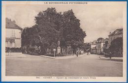 CUSSET 03 ALLIER N° 605 SQUARE DU CENTENAIRE ET COURS TRACY LE BOURBONNAIS PITTORESQUE NON ECRITE EDITIONS LA CIGOGNE - Francia