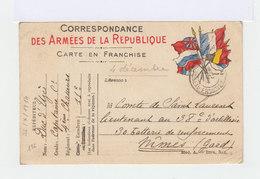Carte En Franchise  Correspondance Des Armées De La République. 1914. (558) - Marcophilie (Lettres)