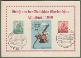 """Amerikanische + Britische Zone - Bizone: Sonderkarte Mi-Nr 106-07 SST, """" Gartenschau Stuttgart 1950 """" !     X - Zona Anglo-Americana"""