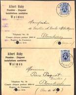 Waimes - Albert Huby Plombier Zingueur (2 Cartes) - Waimes - Weismes