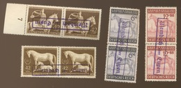 Membach Ober Eupen.  4 Paires Avec Chevaux Horses Pferde.  Sans Colle Ohne Gummi - Deutschland