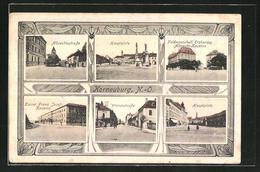 AK Korneuburg, Albrechtsstrasse, Hauptplatz, Feldmarschall Erzherzog Albrecht-Kaserne, Wienerstrasse - Autriche