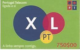 XL PT 750 Prepaid Phonecard - Portugal - Portugal
