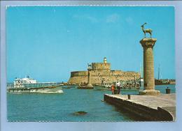 Rhodes Rhodos Rodi 2 Scans Phare Cerf Bateaux - Grèce