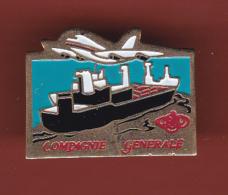 53127-Pin's Compagnie Generale.bateau.avion... - Boats