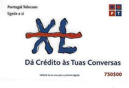 XL PT (Dá Crédito às Tuas Conversas) 750 Prepaid Phonecard - Portugal - Portugal