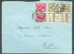 PU74 Et 75 - Tb18 - 10c Et 25c. Petit SCEAU De L'ETAT Album SARIBO Obl. C BRUXELLES Sur Lettre Du 10-II-1938 Vers Liège - Publicités