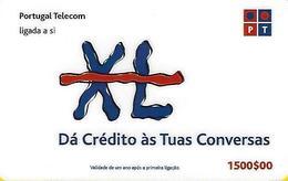 XL PT (Dá Crédito às Tuas Conversas) 1500 Prepaid Phonecard - Portugal - Portugal