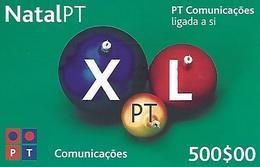 Christmas XL PT 500 Prepaid Phonecard - Portugal - Portugal