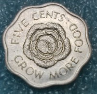Seychelles 5 Cents, 1975   FAO - Grow More Food -0499 - Seychelles