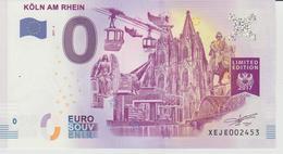 Billet Touristique 0 Euro Souvenir Allemagne Koln Am Rhein 2017-2 N°XEJE002453 - Privéproeven