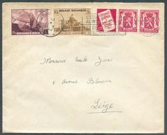 PU76 Tp 425-466-471 - Aff Combiné KOEKELBERG Et 25c. Petit SCEAU De L'ETAT Catalogue National De Timbre Obl. Méc. BRUXEL - Advertising