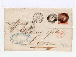 Sur Pli 4p Rouge Orange. Oblitération Duplex. Cachet Rouge PD. (563) - 1840-1901 (Victoria)