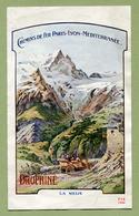 """"""" CHEMIN DE FER PARIS-LYON-MEDITERRANEE - DAUHINE - ETE 1909 """" - Dépliants Touristiques"""